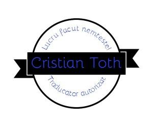 sigla Cristian Toth traducator limba germana