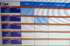 Calendarul de continut pentru blog