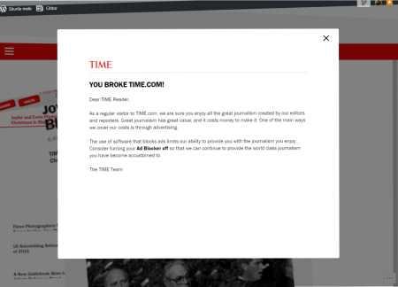 Time - mesaj ad blocking. Atunci, de ce native advertising?