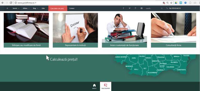 JuristFirme.ro print screen pagina site